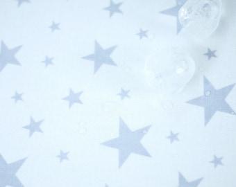 "Stars Laminated Cotton Fabric, Laminated Oxford Fabric - Gray Stars - By the Yard (43 x 36"") 93370"