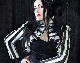 Stripe Pleat Jacket, Gothic, Pirate, Steampunk