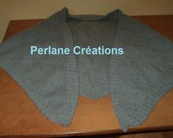 Heather gray wool shawl