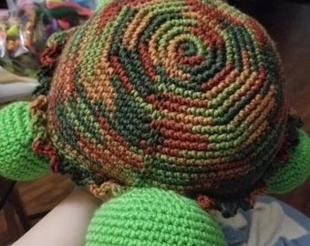 Crochet Turtle Pillow