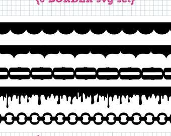 5 Border SVG DXF Set