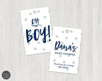 Favor Tags | OH Boy Theme | Customized Printable 2.25 x 3.5