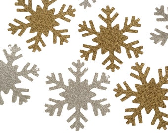 24 Glitter Gold or Silver Snowflake,  Frozen Birthday Party Decorations, Large Snowflake, Photo Backdrop, New Year's Eve Decor - No1127