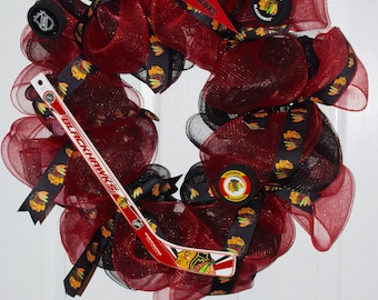Blackhawks Wreath