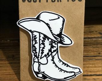 Cowboy Boots Pin!
