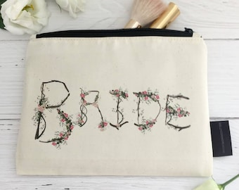 Woodland Wedding Makeup Bag | Boho Bride | Natural Wedding | Bridal Makeup Bag | Rustic Wedding