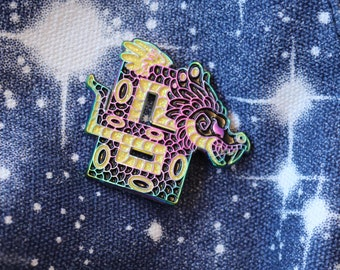 SECONDS SALE Aztec Dragon Rainbow Enamel Pin