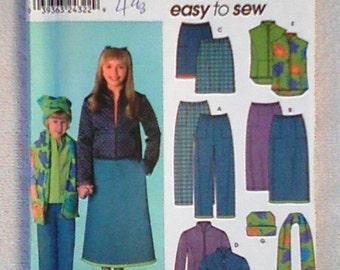 UNCUT Simplicity Sewing Pattern 9419 ... Girls' Separates ... Size K5 (7-8-10-12-14)