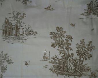 25 x 250 cm toile de jouy fabric coupon