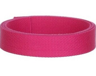 Cotton strap, strap 25 mm candy pink by the yard
