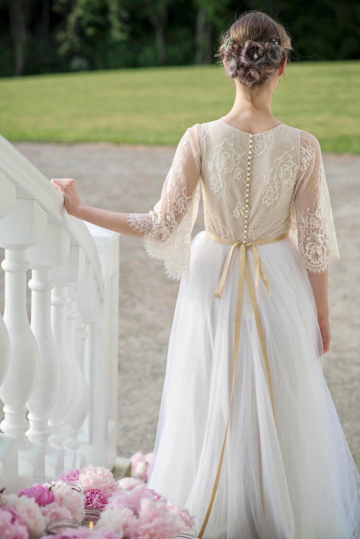 Rustikale Hochzeit Land Hochzeit Kleid Boho Brautkleid