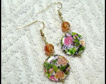 Flower Earrings - Springtime Earrings - Earrings - Jewelry - Dangle Earrings - E167