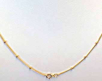 1 Pc 14Kt, 14K Gold Filled Satellite Finished Chains 2mm Bead Choose Length 16, 18, 20, 22, 24, 30-Inch-  GFCSLXX1