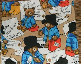 Rare Original Paddington Bear at the Station Cotton fabric