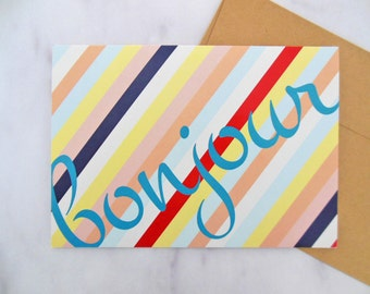 dit en français card | 5x7 greeting card | blank inside | all occasion, just because, missing you, thinking of you