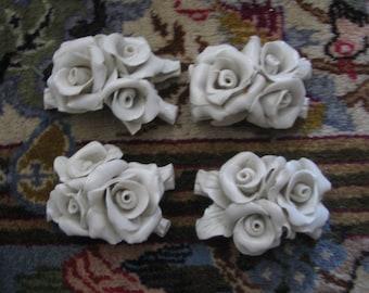 Vintage Ceramic Rose Decor