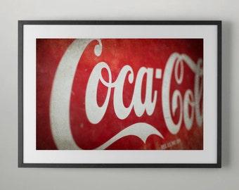 Vintage Coca Cola Sign, Photography, Home Decor, Wall decor, Home Wall decor, Office Wall decor, Fine Art Photography