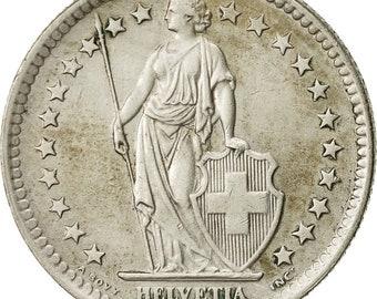 switzerland 2 francs 1963 bern ef(40-45) silver km21