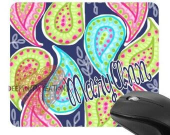 Paisley Monogram Personalized Mousepad Office Desk Supply