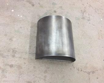 "Rustic Industrial/ 12"" x 12"" half round steel light sconce"