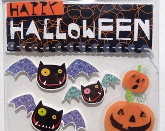 ME & My BIG IDEAS Soft Spoken Scrapbook Stickers - Scrapbook Embellishment  -- Happy Halloween Pumpkins