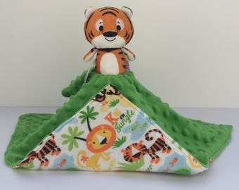 Ultra Plush and Snuggly Tiger Lovey Blanket