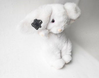 1988 White Rabbit Easter Bunny Vintage Applause Alice in Wonderland Stuffed Animal Plush Toy Spring Basket Decoration Cute Baby Child's Gift