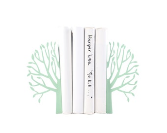 Metal Bookends - Spring Mint - // modern home nursery decor // housewarming // christmas // new baby // baby shower gift // FREE SHIPPING