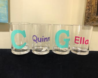 Monogrammed acrylic Bathroom cup. Perfect for everyone in the family!  Personalized with your name or monogram