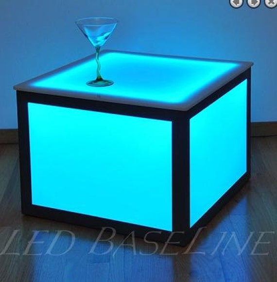 21 Led Cube End Table Color Changing Bar or Home