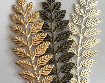 6 pcs of iron filigree charm 32x95mm-1596 -gold/silver/bronze