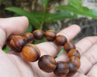 bracelet zebra agarwood oval design