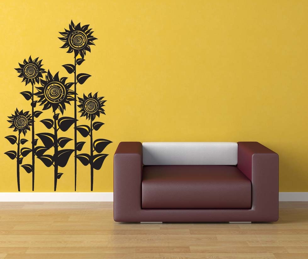 Sunflower Decor Sunflowers Floral Wall Decal Flower