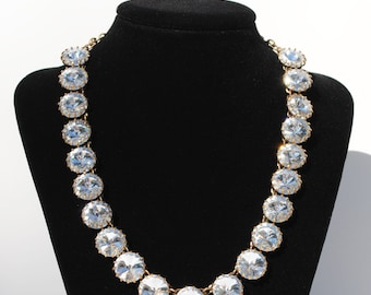 Vintage Inspired Rhinestone Necklace