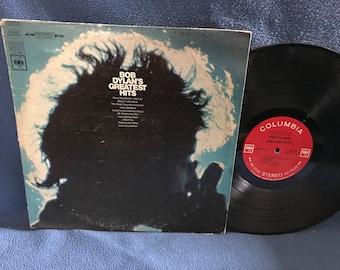 "Vintage Bob Dylan - ""Greatest Hits"" Vinyl LP Record Album OG 1st Press Folk Rock, Like A Rolling Stone, Just Like A Woman Mr. Tambourine Man"