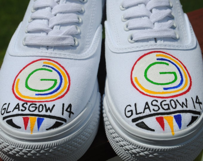 Glasgow 2014 common Wealth Games Custom Hand Painted shoe size 8 - SOLD