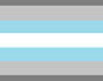 Demigender/Demiboy pride flag 3' x 5' Flag, Dark Gray, Light Gray, White, Light Gray, Dark Gray, Custom Sizes Available