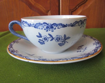 East Indies Ostindia Rorstrand Large Cup and Saucer * Sweden   { C-24 }