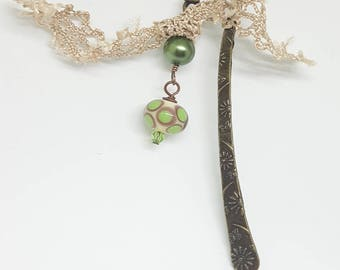 Handmade Bead and Glass Pearl  Bookmark