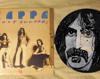 Frank Zappa Portrait on Vinyl record