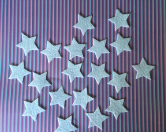 100 Felt Star Shapes -  Use for wax scent samples , craft projects Etc