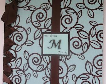 Monogram Wedding Photo Album/Anniversary Album/Personalized (Custom Colors Available)