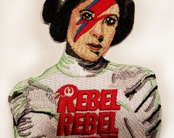 Rebel Rebel Princess Embroidered Patch