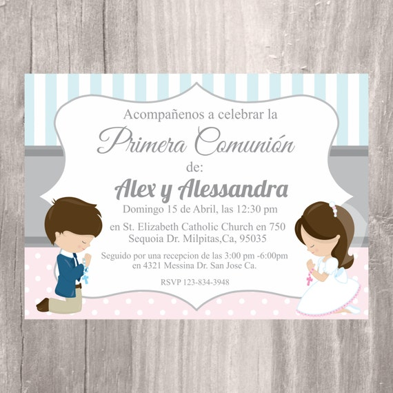 photo about Printable First Communion Invites identify Printable To start with Communion Invitation @SM76
