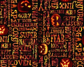 Fright Night Glow-In-The-Dark Fright Words Cotton Woven