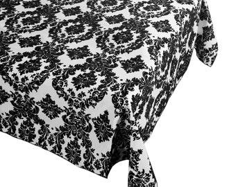 Damast Tisch Tuch dekorative Polyester Taft schwarz weiß