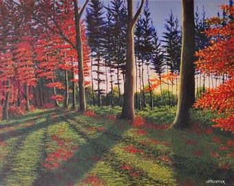 """Acrylic painting """"Autumn light"""""""