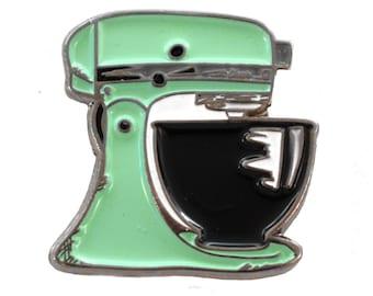 Mint Green Kitchen Mixer Enamel Pin, Kitchen Mixer Lapel Pin, Baker Gifts, Gifts For Bakers, Baking Pins, Soft Enamel Collectible Pin Game