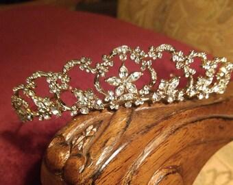 Regal Air Tiara Gold or Silver Rhinestones Bridal Wedding Quinceañera New Vintage