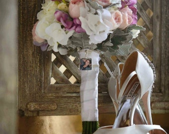 Bridal Bouquet Memorial Photo Charm - BC2